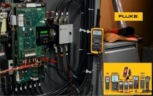 FLUKE electrical testers, digital multimeters (DMMs), clamp meters, single and three-phase power quality meters, ScopeMeter™ test tools, current clamps, thermal imagers, digital thermometers, and DMM accessories