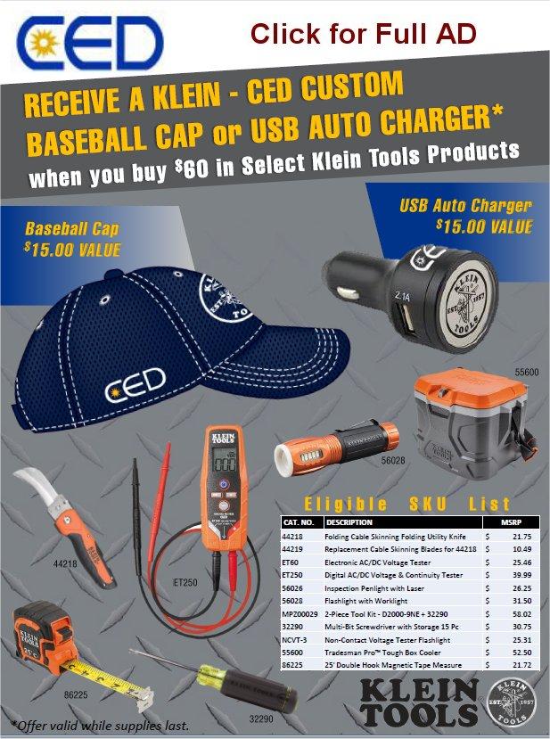 Klein Tools cap-usb gift