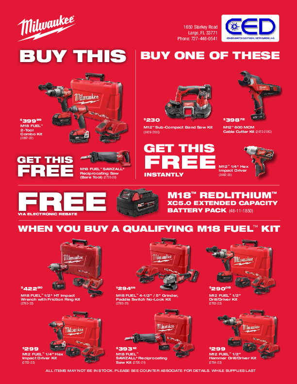 Milwaukee Tools 4th Quarter Promo