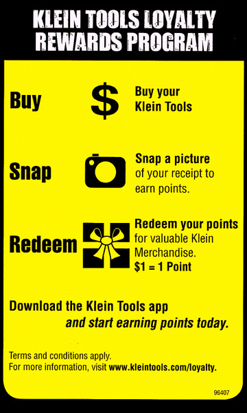 Klein Tools Loyalty Rewards Program